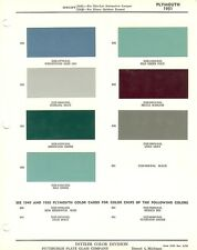 1951 PLYMOUTH CONCORD CANBROOK CAMBRIDGE PAINT CHIPS SHEET (PPG-DITZLER)