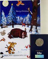 Gruffallo commemorative royal mint 50p on special Xmas a5 display