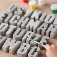 Decorative Alphabet Concrete Molds 3d Silicone Plaster English Capital Letters