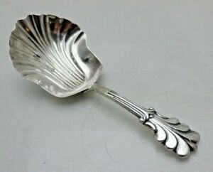 Antique Victorian Solid Sterling Silver Caddy Spoon  B'Ham 1883  (LS)
