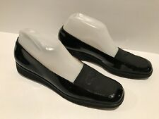 Salvatore Ferragamo Low Wedge Loafers Patent Leather Black 8 AAAA Fits 6.5 M