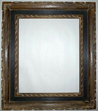 "Vintage Antique Rustic Painted Wood Carved Picture Frame 22"" x 19"" 1950-1960"