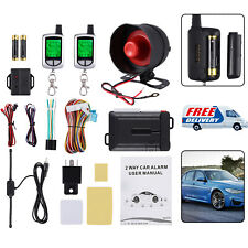 2 Way Car Pager Lcd Alarm System Passive Keyless Entry Remote Start Push Button