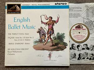 ASD 443 W/G BALLET MUSIC BY HOLST WALTON & BRITTEN RPO SARGENT   NM