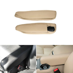 For Discovery Land Rover 3 4 Right&Left Seat Armrest Handle Leather Cover Beige