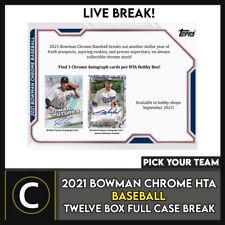 2021 BOWMAN CHROME Hta бейсбол 12 коробка (полный чехол) перерыв #A1226 — выбирайте свою команду