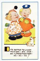 "Mabel Lucie Attwell 1950's POSTCARD 5326 ""IT'S BETTER TO LAUGH THAN..."" Unposted"