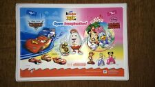 Kinder Surprise 3D Mould Poster Toy Disney Cars Minnie Mouse INDIA 2016 Rare