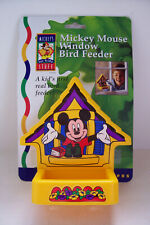 Disney Mickey Mouse Window Bird Feeder w Suction Yard Garden Accessory New