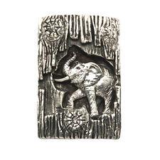Sterling Silver Elephant Rolling Log Pendant