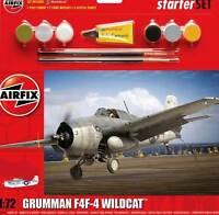 Airfix Grumman F4F-4 Wildcat VC-12 USS Core Model Kit 1:72 Colour Paintbrush Set