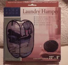 "Laundry Hamper Flex Fold Converts From 23"" to 8"" Mesh Construction New Nib"