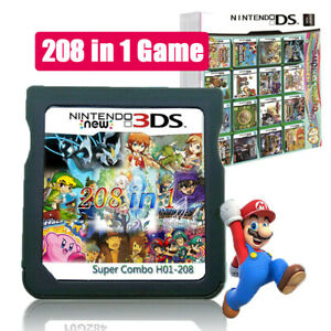 208 In 1 Video Game Cartridge Card for Nintendo NDS NDSL 2DS 3DS 3DSLL 3DSXL