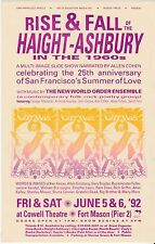 SAN FRANCISCO 25th ANNIV SUMMER OF LOVE ORACLE HANDBILL GRIFFIN LEARY DEAD 1992