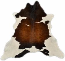 Genuine Mini Cowhide 31 1/2x31 1/2in Braun White Tricolor
