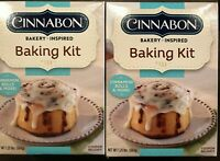 Cinnabon Baking Kit Best By:3/9/22 Makes 4 Lot of 2 -1.25 lbs Free Ship
