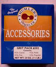Thumler;s Rock Tumbler  Accessories - 24 oz - Grit & Polish Pack #302 - USA