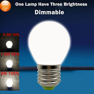 Dimmable 3W LED Bulb E26 E27 B15 B22 E14 E12 Equival 30W Incandescent Lamps RH