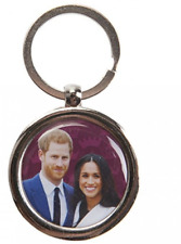 The Royal Wedding Harry & Meghan Royal Couple Oval Metal Keyfob Gift