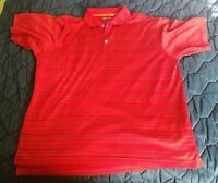 Mens Adidas Golf Polo Shirt Size L Short Sleeve Clima Cool red black & yellow