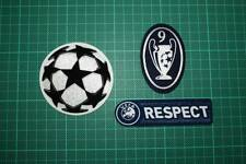 UEFA CHAMPIONS LEAGUE, RESPECT and 9 TIMES TROPHY BADGES 2011-2012
