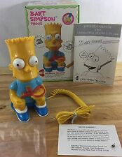 Vintage BART SIMPSON promo Novelty Telephone - 1990 Columbia Tel-Com SIMPSONS
