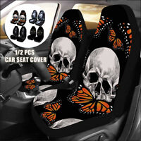 Car Front Seat Cover Cushion Skull Wolf Printed Protector Sedan SUV Universal
