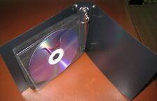 50  BLACK CD DVD 2 RING ALBUM CASE HOLDS 20 DISC -MH10