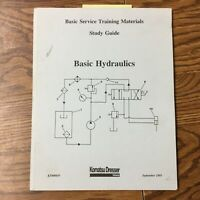 Komatsu Dresser HYDRAULICS BASIC SERVICE TECHNICAL TRAINING MANUAL GUIDE BOOK