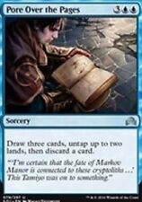 Pore Over the Pages X4 NM Shadows Over Innistrad MTG Card Blue  Uncommon