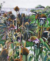 "NEW ORIGINAL PETE DAVIES ""Autumn Garden I"" flower flowers OIL CANVAS PAINTING"