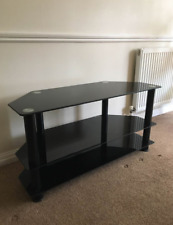 used stand black Glass TV Unit
