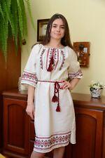Ukrainian embroidered traditional folk dress, ladies vyshyvanka ethnic style