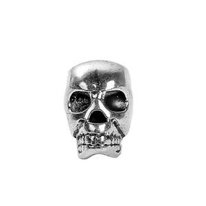 lot de 5 perles tete de mort en argent tibetain 12x8 mm