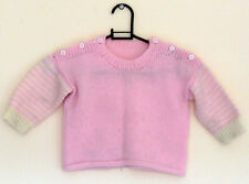 Baby girl's pink jumper knitwear for 1-1.5 years old