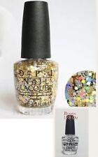 OPI Spotlight REACHED MY GOLD Gold Glitter Nail Polish .5 oz G38 Bonus Chip Skip