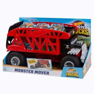 Hot Wheels FYK13 Large-scale Monster Mover Stores Twelve 1:64 Scale Trucks