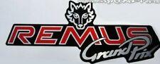 REMUS GP EXHAUST SILENCER LOGO BADGE STICKER HIGH TEMP RESISTANT RACING BIKE