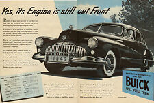 1945 Classic Car AD the New BUICK for 1946 Fireball 8 Engine great 2 page 120216