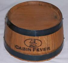 4 NEW CABIN FEVER Whisky Wooden Mini Miniature Quarter Barrel Display Unit NEAT!