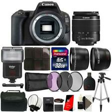 Canon Eos 200D / Sl2 24.2Mp Dslr Camera + 18-55mm Lens + 32Gb Accessory Kit