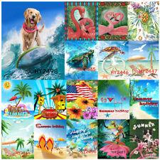 Welcome Garden Flags Summer Beach Palm Tropical Paradise Banner Outdoor Decor Lb