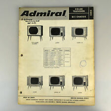 Admiral Color Television G11 Chassis Instruction Service Guide Book S1022