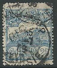 1903 SAN MARINO USATO VEDUTA 25 CENT - M5-6