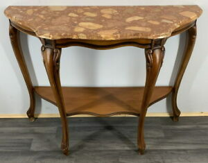 Beautiful  French Louis Style Console Table with marble top