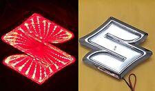 3D LED Car Tail Logo Red Light for Suzuki Swifi Alto Jimmy Auto Badge Light