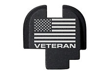 for Springfield Armory XDS Rear Slide Plate 9mm .40 .45 BLK US Flag Veteran Text