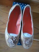 Lindsay Phillips Flats Neutral Interchangeable Snap Shoe Liz Size 7 1/2 New