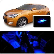 For Hyundai Veloster 2011+ Blue LED Interior Kit + Blue License Light LED
