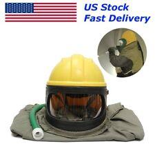 Safe Sandblast Helmet Blast Hood Protector Cloak Sand Len AIR for Sandblasting